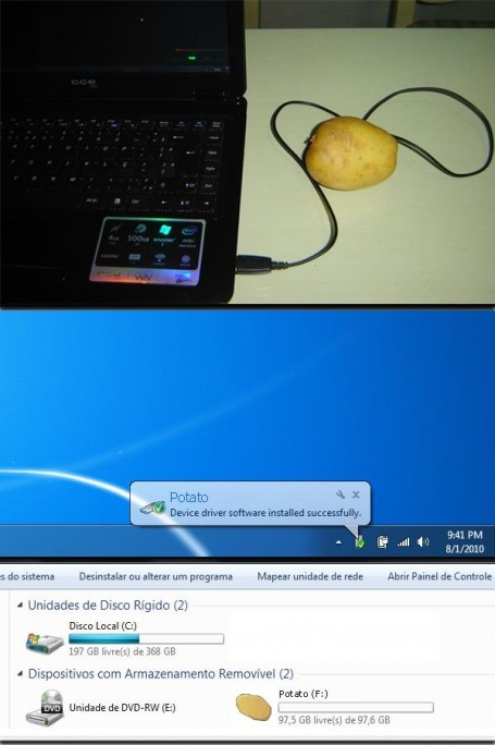 Potato-flash-drive